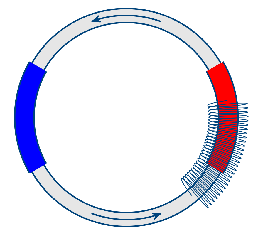 En skisse av en temomagnetisk pumpe som bruker en elektro-magnet. (Karl Yngve Lervåg)