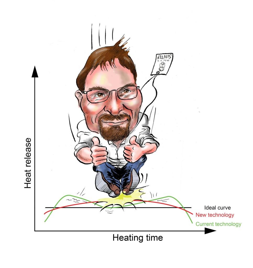 Øyvind Skreiberg forsker skal forske for blant annet sørge for at vedovner avgir stabil varme (SINTEF/Kjetil Strand)