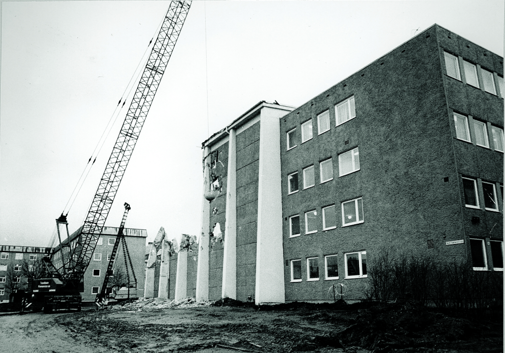 In 1984, this laboratory was demolished to make room for extensions of the Department of Electrical Engineering buildings - the current ELA complex.