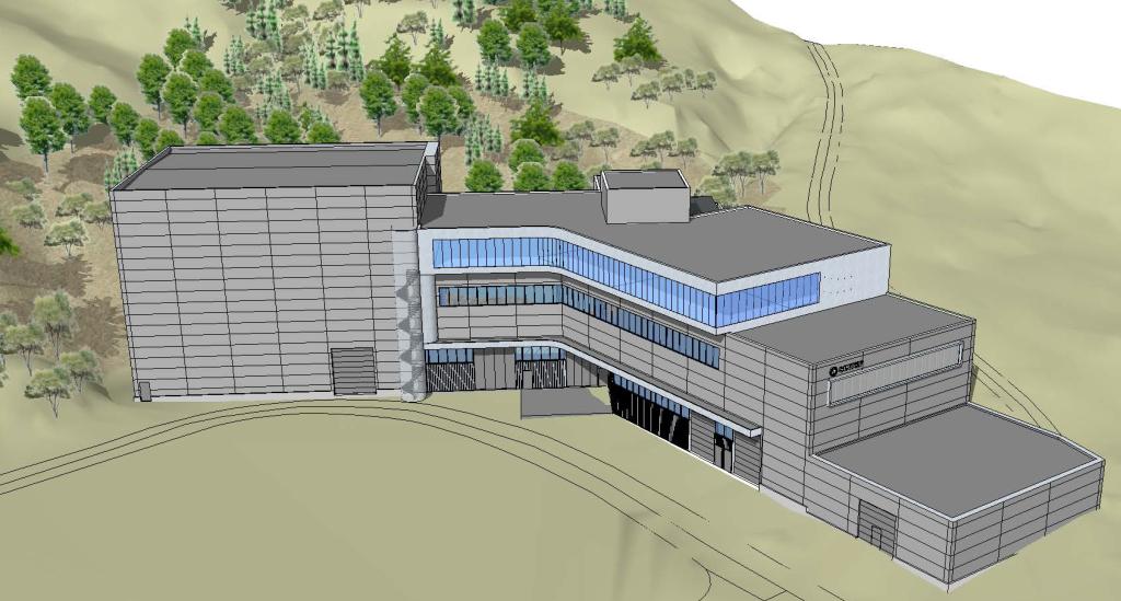 Det planlagte laboratoriebygget på Blakila.