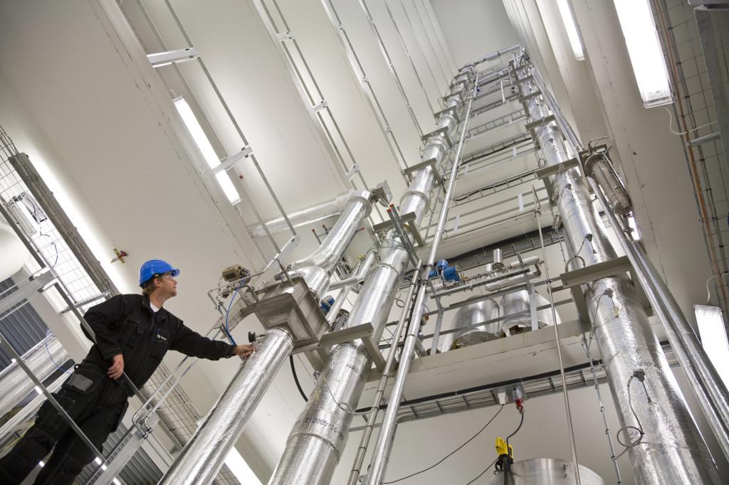 SINTEFs laboratorium for CO2-fangst i Trondheim. Foto: SINTEF / Thor Nielsen