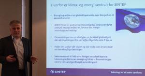 Klimadirektør Nils Røkke om hvorfor klima- og energiforskning er sentralt for SINTEF (Foto: Anne Steenstrup-Duch)