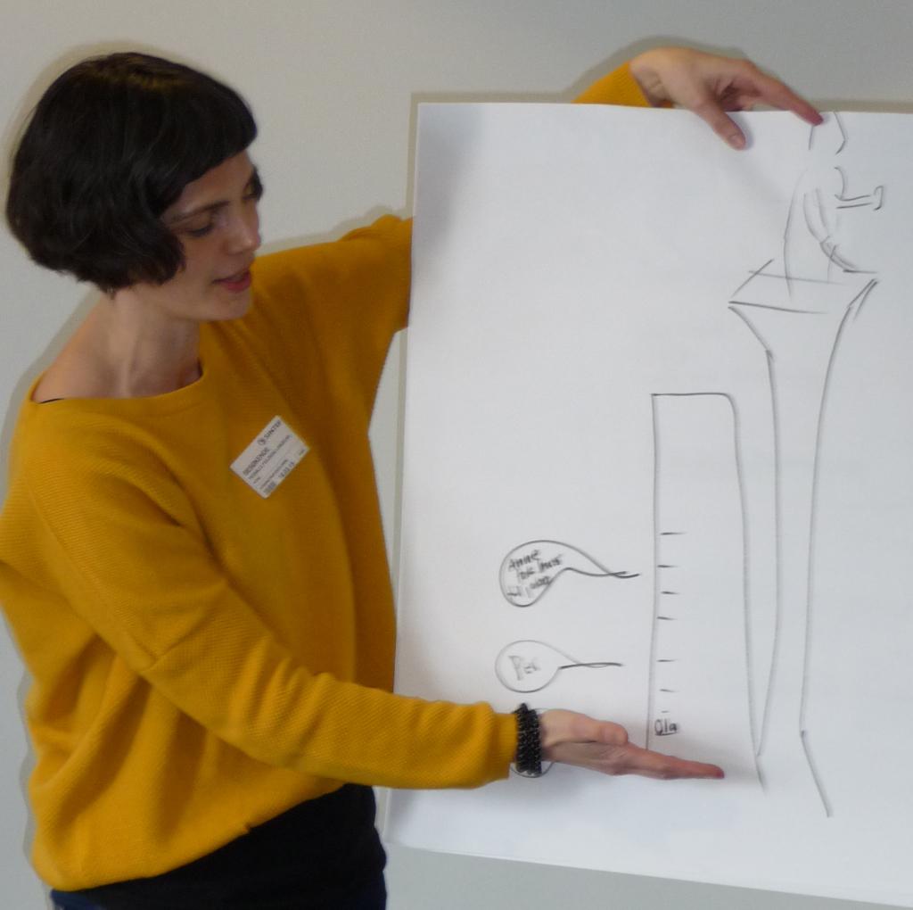 Pernille Feilberg Langeland presenterer resultatene fra sin gruppe (Foto: Astrid Lundquist)