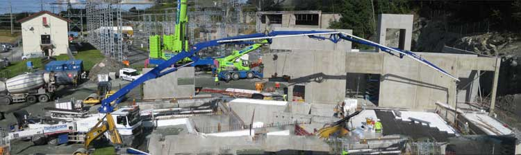Concrete filling - August 2014.