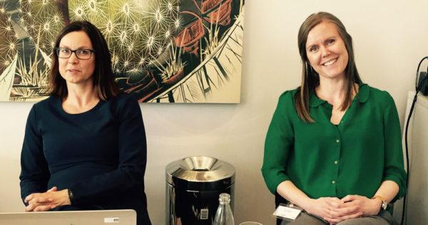Anne Karin Hemmingsen and Line Rydså