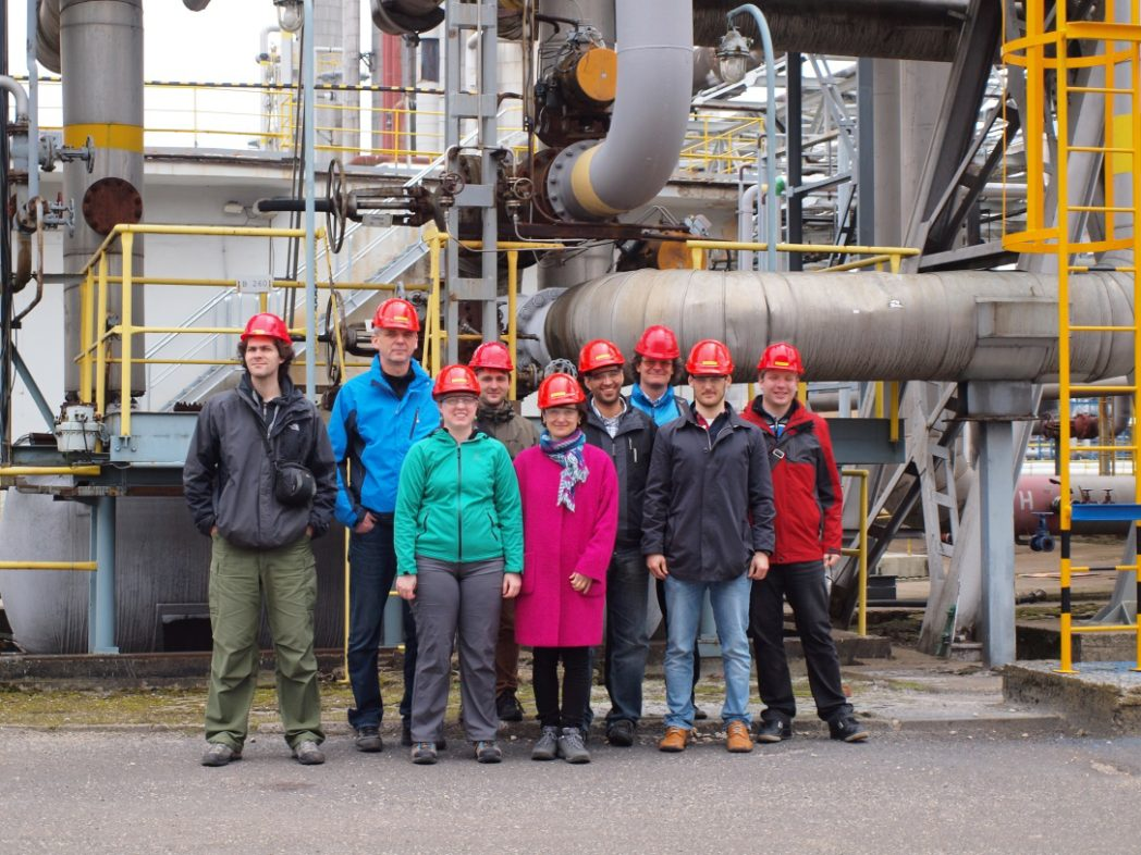 Visit of the Vresova IGCC power plant with representatives of Czech Technical University, SINTEF Energy Research and the Norwegian Research Council (Photo: SINTEF Energy)