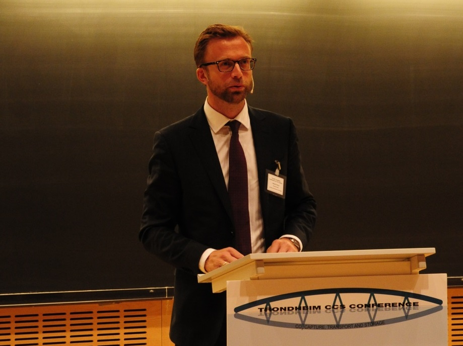 Member of the Norwegian Parliament, Nikolai Astrup, explained how the Norwegian Government works with CCS