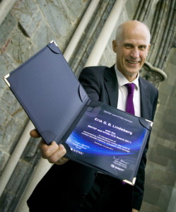 """Chief scientist Erik Lindeberg of SINTEF Petroleum Research was awarded the international research prize """"The SINTEF and NTNU CCS Award"""" in 2011 for his pioneering role in research on storing CO2 in geological strata. (Photo: Gry Karin Stimo/SINTEF)"""