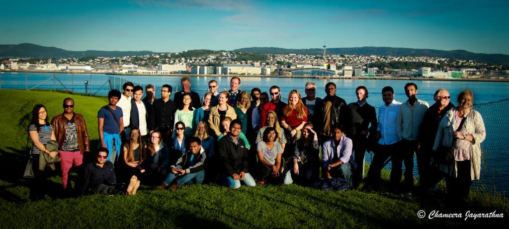 The summer school partcipants and lecturers at the Island of Munkholmen, in Trondheim, Norway. Photo: Chameera Jayarathna, Tel-Tek
