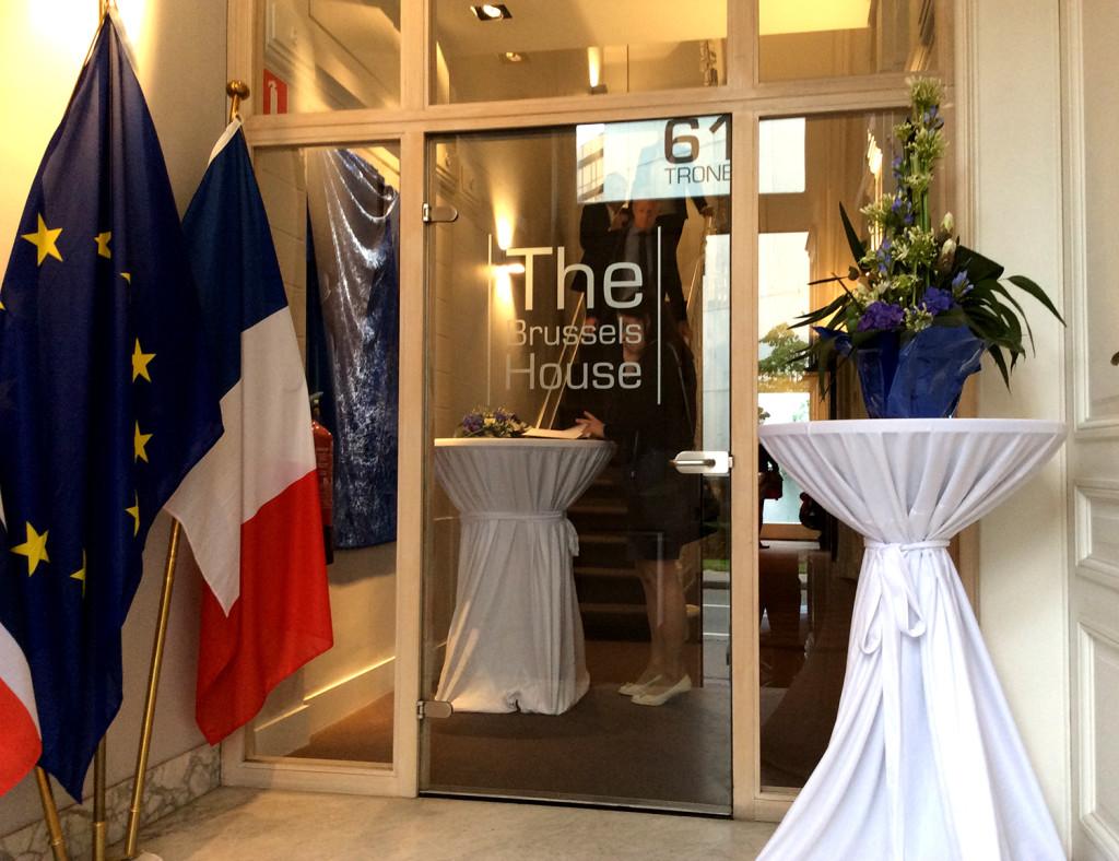 Inngangen til kontoret. Foto: Jan van der Perre.