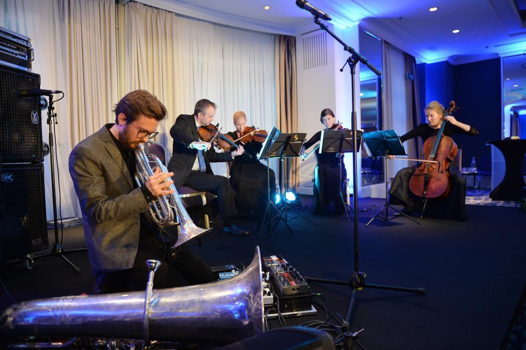 Kristoffer Lo og Trondheimsolistene spilte under åpningen. Foto: Jan van der Perre