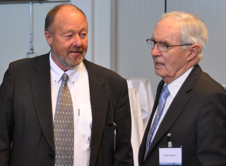 Sverre Aam, tidligere adm. direktør SINTEF Energi og Inge Johansen, tidligere rektor NTNU.