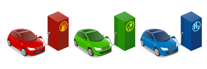 Cars on fossil fuel electric H2