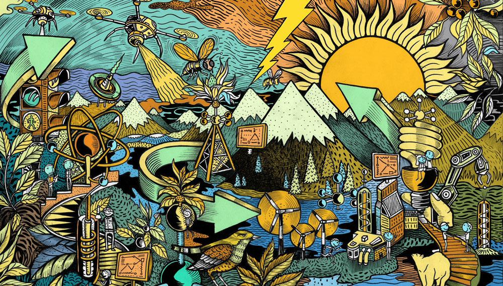Lerchendalkonferansen 2016. Årets illustrasjon er laget av Peter-John de Villiers