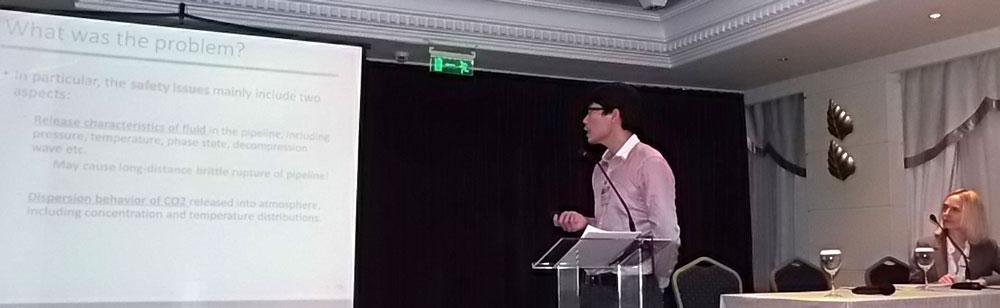 Dr. Xingqing Yan presenting.