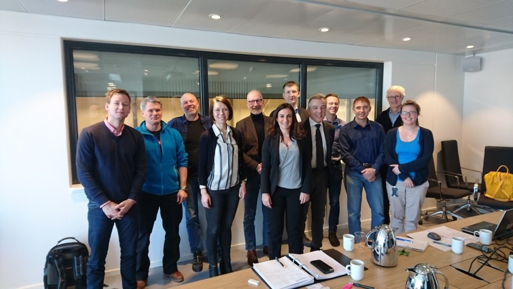 Deltakere på workshop: Kim Ove Asklund (Hafslund), Thomas Sire (Eidsiva energinett), Geir Solum (TrønderEnergi Nett), Tone Bleken Rud (Eidsiva energinett), Ketil Sagen (Energi Norge), Susanna Mocci (Universitetet i Cagliari), Thomas Welte (SINTEF Energi), Fabrizio Pilo (Universitetet i Cagliari), Jørn Foros (SINTEF Energi), Knut Rydland (Skagerak nett), Eivind Solvang (SINTEF Energi, prosjektleder REPLAN) og Maren Istad (SINTEF Energi). Foto: Dag Eirik Nordgård (SINTEF Energi).