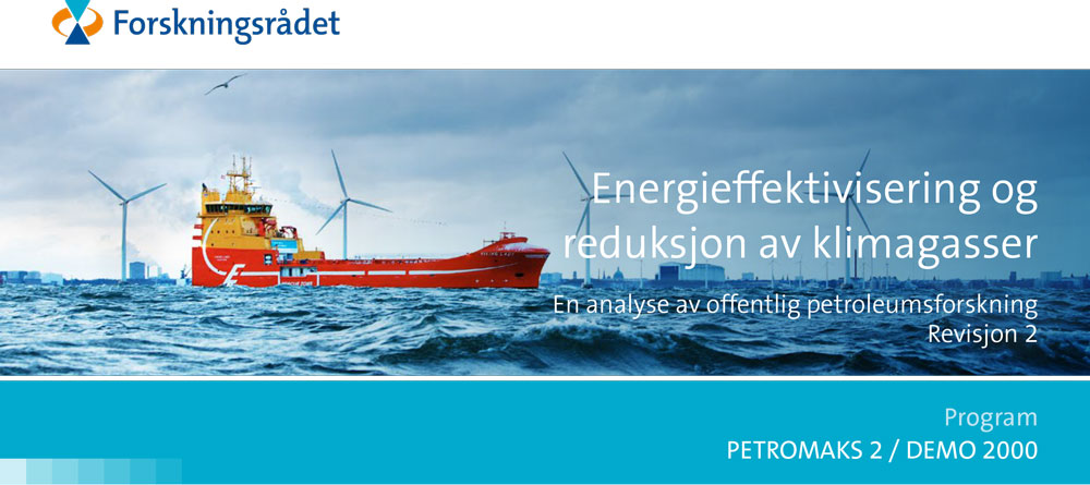 Pamphlet frontpage with offshore wind and ship