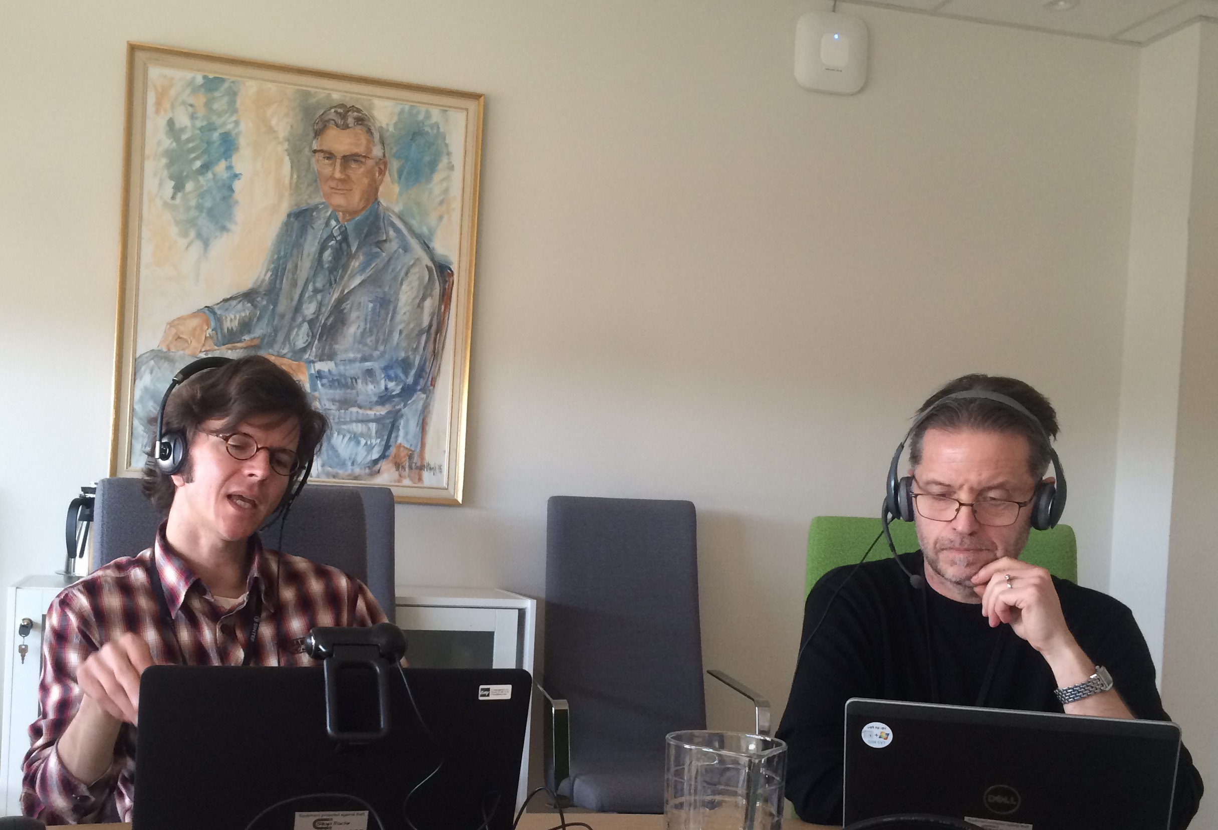 Chief Scientist, Dr. Svend Tollak Munkejord and me during the webinar