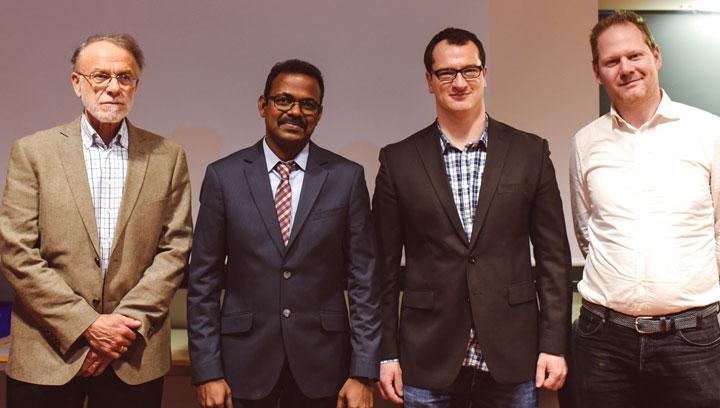 From left: Dag Myrhaug, Mayilvahanan Alagan Chella, Hans Bihs and Michael Muskulus.