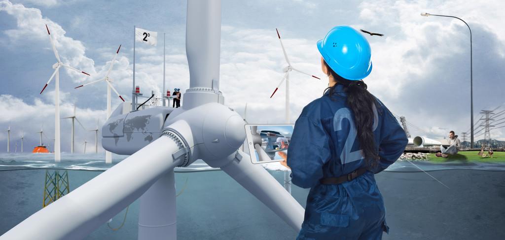 En av utfordringene i dag er at tunge komponenter, slik som transformatorer, må løftes opp i toppen av turbintårnet under bygging, og senere vedlikeholdes der oppe. Transformatorene har ofte begrenset effekt fordi de utvikler mye varme. Vår idé er å blande inn nanopartikler i transformatoroljen, som bedrer kjølingen og dermed gjør transformatorene mindre, lettere og mer pålitelige. Dette kan gjøre vindturbiner både billigere å bygge og vedlikeholde. (Illustrasjonsbilde: Oxygen)