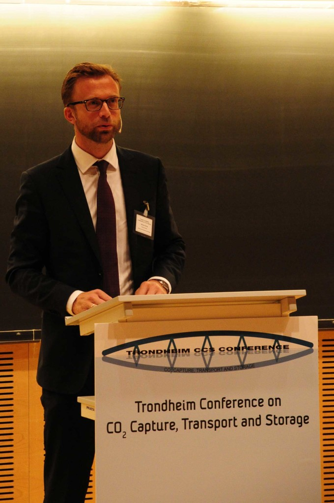 MP Nikolai Astrup presented Norway's strategy for CCS deployment (Photo: Svend Tollak Munkejord)