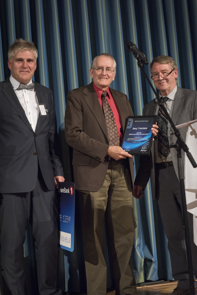 From left: Dr. Nils Røkke, SINTEF, Prof. Gary Rochelle, The University of Texas Austin and Prof. Hallvard Svendsen, Norwegian University of Science and Technology.