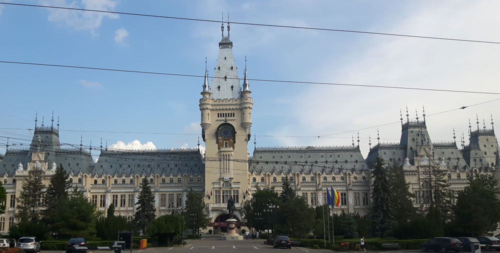 The presidential palace in Iasi.