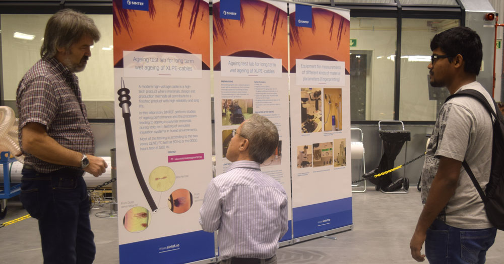 Senior Research Scientist, Hallvard Faremo, from SINTEF explains the research area on cables.
