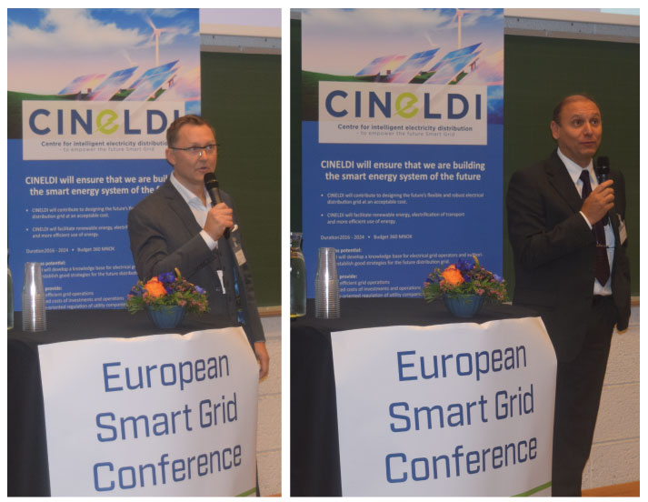 After the technical tours and lunch, the participants joined the Keynote sessions chaired by Luciano Martini (RSE), Coordinator EERA JP Smart Grids, Director, T&D Technologies Dept., RSE and Knut Samdal, coordinator EERA JP Smart Grids, Transmission Network, Research Director, SINTEF Energy Research.