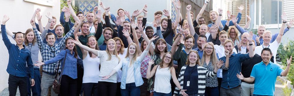Sommerforskere 2016 etter avslutningsseminaret.