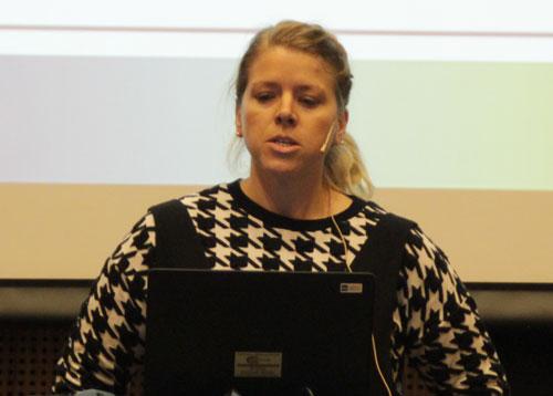 Amy Brunsvold presenting