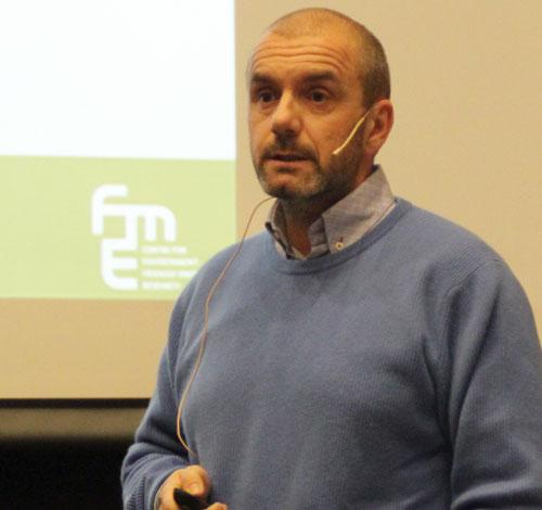 Andrea Gruber presenting