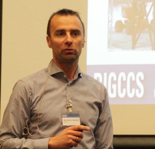 Nils ERland Haugen presenting