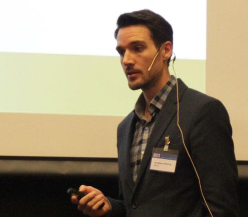 Jonathan Polfus presenting