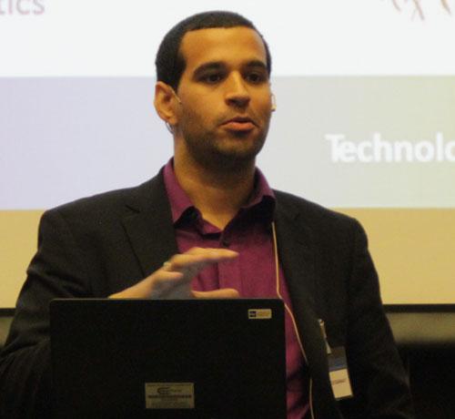 Simon Roussanaly presenting
