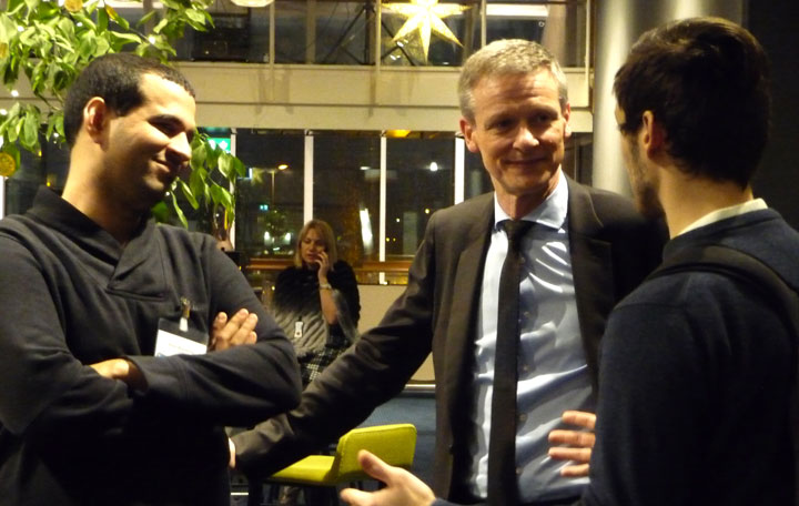 Coffee break, Simon Roussanaly, Johan Leuraers and David Berstad