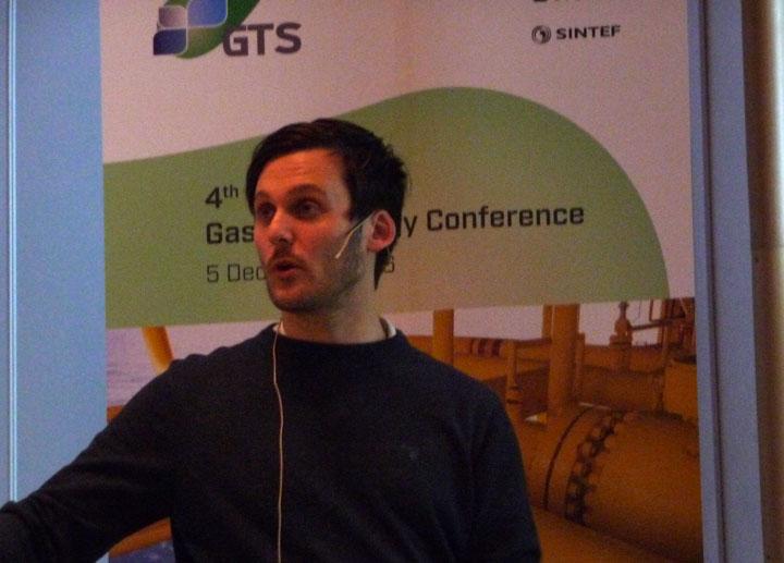David Berstad presenting