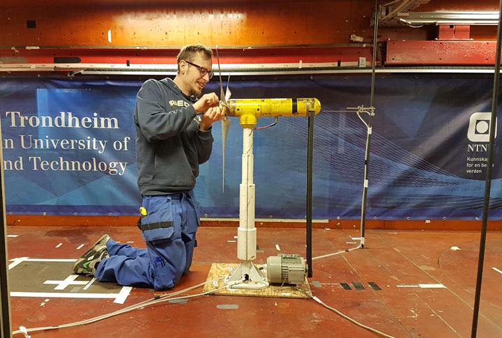 Franz Mühle, NTNU monterer alternativ rotor