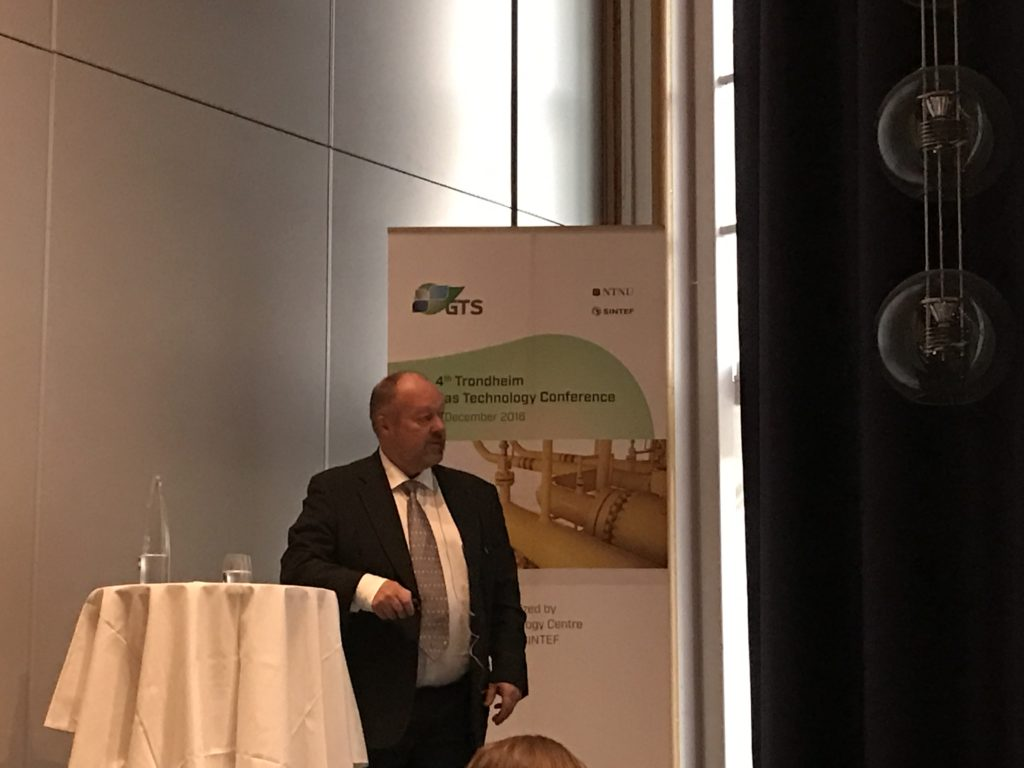 Sverre Aam, Chairman of the Energi21 Board explained the role of gas in the Norwegian Energy21 strategy. CCS is one of six highlighted areas in the strategy, and he said that CCS is key to secure gas resources.
