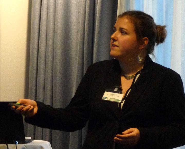 Stefanie Tesch presenting
