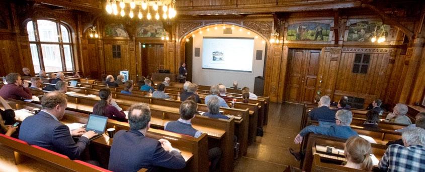 Eilif Due fra Norges Skogeierforbund presenterte på CenBios sluttkonferanse