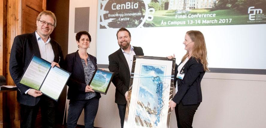 Bioenergy Innovation Award 2017 ble tildelt Prediktor Instrument AS under CenBios sluttkonferanse 13. mars 2017.