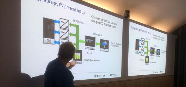Kjell Sand presenterer Smartgrid-laben