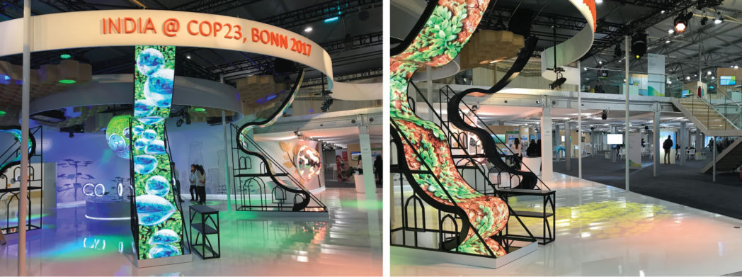 India had one of many beautiful stands at COP23