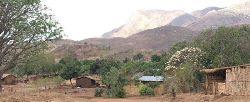 A typically poor rural area in Malawi.