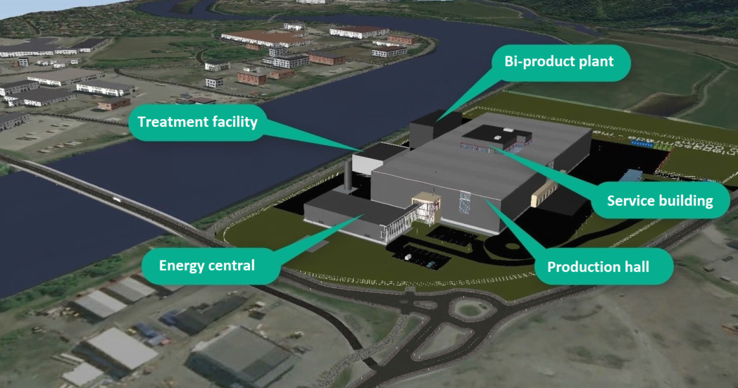 Overview of the new chicken poultry plant under planning. CTES technology is one of the energy efficiency measures that is going to be implemented in the plant.