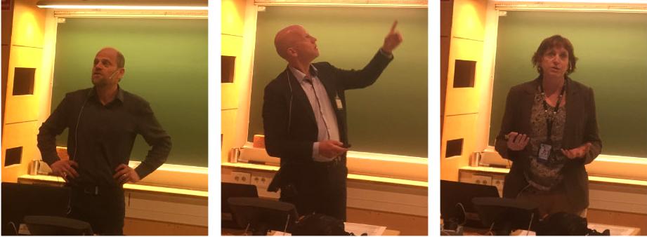 Lars Larsen from Danfoss, Lars Bertilsson from Alfa Laval and Professor Merete Tangstad from NTNU