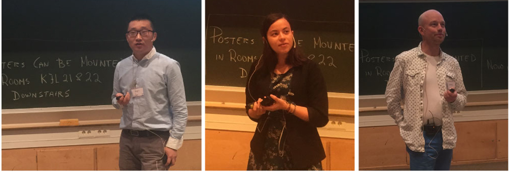 …more picture of our dedicated students, from left; Haoshui Yu, NTNU, Cristina Zotica, NTNU and Håkon Fyhn, NTNU SR