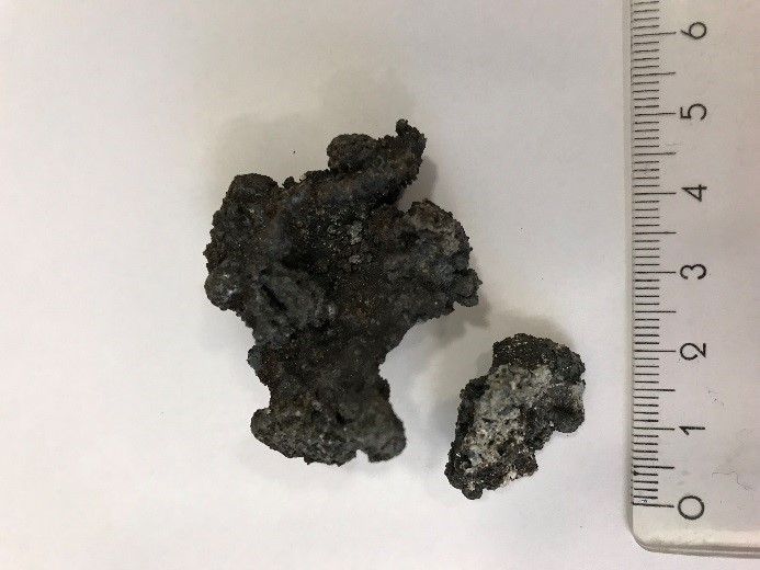 Figure 1. Slag samples at two different process steps.