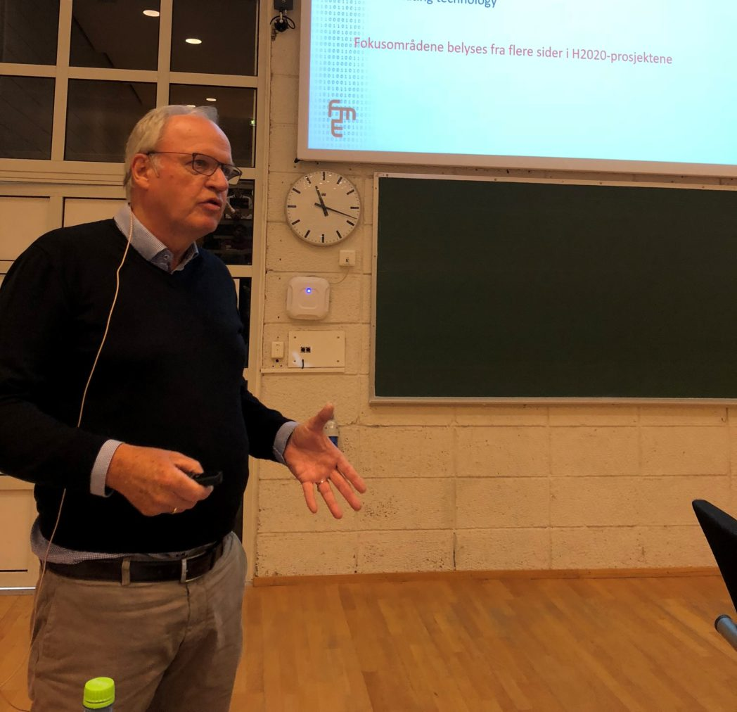 Øivind Berg presenterer ulike prosjekter